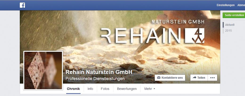 Social-Media-Marketing | Facebookfanpage Rehain Naturstein